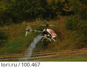 Купить «Радиоуправляемая модель Вертолёта в полёте», фото № 100467, снято 22 сентября 2007 г. (c) Старкова Ольга / Фотобанк Лори