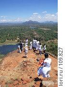 Купить «Люди на вершине скалы», фото № 109827, снято 1 июня 2007 г. (c) Валерий Шанин / Фотобанк Лори