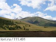 Купить «Алтай: р. Бугузун, Вид на г.Сайлюгем», фото № 111491, снято 26 июля 2006 г. (c) Александр Гершензон / Фотобанк Лори
