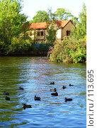 Купить «Санкт-Петербург, домик на воде», фото № 113695, снято 21 сентября 2006 г. (c) Светлана Черненко / Фотобанк Лори