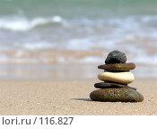 Купить «Пирамида из камней. Пляж.», фото № 116827, снято 8 января 2006 г. (c) Losevsky Pavel / Фотобанк Лори