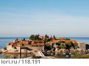 Купить «Черногория, остров Святого Стефана», фото № 118191, снято 23 сентября 2007 г. (c) Ирина Крамарская / Фотобанк Лори