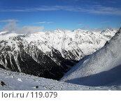 Купить «Горные вершины, Домбай», фото № 119079, снято 7 января 2007 г. (c) Светлана Черненко / Фотобанк Лори