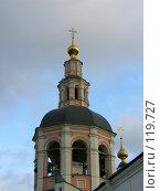 Купить «Колокольня Даниловского монастыря», фото № 119727, снято 2 ноября 2007 г. (c) Колчева Ольга / Фотобанк Лори
