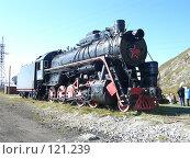 Паровоз на станции Порт Байкал. Стоковое фото, фотограф Любовь Веселова / Фотобанк Лори