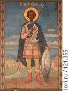 Купить «Фреска на стене храма.Новый Афон, Абхазия.», фото № 121355, снято 9 августа 2007 г. (c) Игорь Дашко / Фотобанк Лори