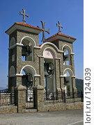 Купить «Кипр, звонница в горах рядом с монастырем Киккос», фото № 124039, снято 23 августа 2006 г. (c) Александр Соболев / Фотобанк Лори