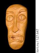 Купить «Деревянная маска», фото № 127647, снято 4 июня 2006 г. (c) Георгий Марков / Фотобанк Лори
