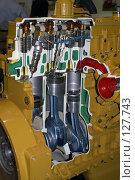 Купить «Двигатель в разрезе», фото № 127743, снято 2 сентября 2007 г. (c) Тим Казаков / Фотобанк Лори