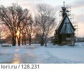 Купить «Никольская церковь. Закат», фото № 128231, снято 18 ноября 2007 г. (c) Parmenov Pavel / Фотобанк Лори