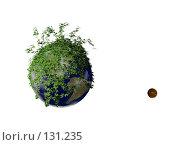Купить «Зеленая планета земля», иллюстрация № 131235 (c) Виктор Застольский / Фотобанк Лори
