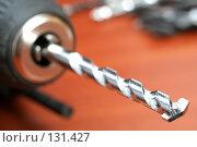 Купить «Патрон электрической дрели со сверлом по бетону», фото № 131427, снято 28 ноября 2007 г. (c) Александр Паррус / Фотобанк Лори
