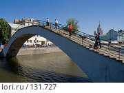 Купить «Пешеходный мост через Обводной канал», фото № 131727, снято 9 августа 2007 г. (c) Юрий Синицын / Фотобанк Лори