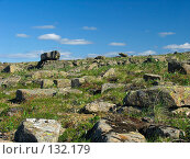 Купить «Плато Путорана. Тундра с камнями», фото № 132179, снято 23 июля 2004 г. (c) Serg Zastavkin / Фотобанк Лори
