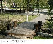 Купить «Декоративный пешеходный мост в парке отдыха в Пекине», фото № 133323, снято 19 сентября 2018 г. (c) Вера Тропынина / Фотобанк Лори