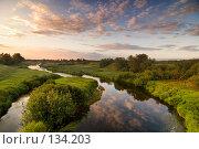 Купить «Вечер у реки», эксклюзивное фото № 134203, снято 30 июня 2007 г. (c) Александр Алексеев / Фотобанк Лори