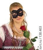 Купить «Девушка в костюме Итальянского Возрождения, середина 15 века», фото № 138403, снято 7 января 2006 г. (c) Serg Zastavkin / Фотобанк Лори