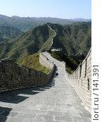Купить «Великая китайская стена. Бесконечность», фото № 141391, снято 19 сентября 2018 г. (c) Вера Тропынина / Фотобанк Лори