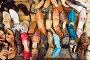 Прилавок с обувью на уличном базаре. Марокко, фото № 143707, снято 10 августа 2007 г. (c) Олег Селезнев / Фотобанк Лори