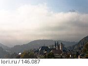 Купить «Вершина горы Ватцманн, возвышающаяся над городом Берхтесгаден, Бавария», фото № 146087, снято 17 октября 2005 г. (c) Павел Гаврилов / Фотобанк Лори