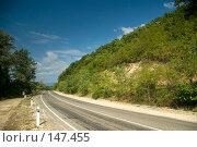 Купить «Дорога в горах близ Берегового (побережье Черного моря)», фото № 147455, снято 8 августа 2007 г. (c) Петухов Геннадий / Фотобанк Лори