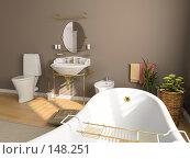 Купить «Интерьер ванной», иллюстрация № 148251 (c) Виктор Застольский / Фотобанк Лори