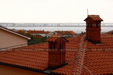 Купить «Крыши. Город Перой.  Хорватия.», фото № 148455, снято 23 ноября 2007 г. (c) Николай Коржов / Фотобанк Лори