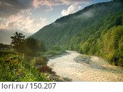 Купить «Река Мзымта. Красная Поляна», фото № 150207, снято 16 августа 2007 г. (c) Петухов Геннадий / Фотобанк Лори
