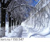 Купить «Стена монастыря», фото № 150547, снято 17 февраля 2007 г. (c) Дмитрий Никитин / Фотобанк Лори