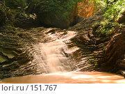 Купить «Водопад. Река Руфабго. Кавказский заповедник», фото № 151767, снято 10 августа 2007 г. (c) Петухов Геннадий / Фотобанк Лори