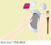 Купить «Женские руки делают изделие (серия пошаговых уроков)», иллюстрация № 159663 (c) Олеся Сарычева / Фотобанк Лори