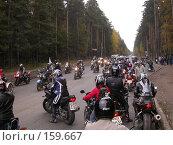 Купить «Байкеры на дорогах Пермской области», фото № 159667, снято 29 сентября 2007 г. (c) Harry / Фотобанк Лори
