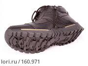 Купить «Мужские черные зимние ботинки», фото № 160971, снято 26 ноября 2006 г. (c) Александр Паррус / Фотобанк Лори