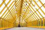 Желтый стеклянный коридор, фото № 162063, снято 25 сентября 2007 г. (c) Бабенко Денис Юрьевич / Фотобанк Лори