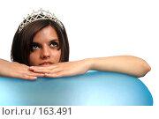 Купить «Девушка с диадемой, на белом фоне», фото № 163491, снято 26 июля 2007 г. (c) Александр Паррус / Фотобанк Лори