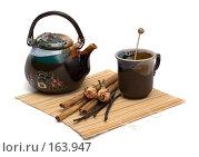 Купить «Чай с корицей, ванилью розой и сахарной карамелью», фото № 163947, снято 22 декабря 2007 г. (c) Татьяна Белова / Фотобанк Лори