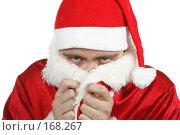 Купить «Мёрзнущий Дед Мороз», фото № 168267, снято 18 сентября 2018 г. (c) Роман Сигаев / Фотобанк Лори
