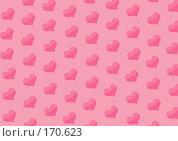 Купить «Фон с сердцами розового цвета», иллюстрация № 170623 (c) Лукиянова Наталья / Фотобанк Лори