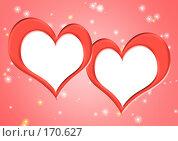 Купить «Две рамки в форме сердечек», иллюстрация № 170627 (c) Лукиянова Наталья / Фотобанк Лори