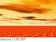 Купить «Закат в пустыне», иллюстрация № 170707 (c) ElenArt / Фотобанк Лори