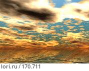 Купить «Облачный закат», иллюстрация № 170711 (c) ElenArt / Фотобанк Лори