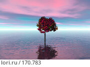 Купить «Одинокое дерево, наводнение», иллюстрация № 170783 (c) ElenArt / Фотобанк Лори
