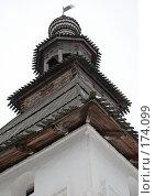 Купить «Деревянный купол Надвратной церкви Саввино-Сторожевского монастыря», фото № 174099, снято 21 ноября 2007 г. (c) Владимир Тарасов / Фотобанк Лори
