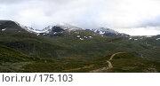 Купить «Высоко в горах Норвегии», фото № 175103, снято 22 апреля 2018 г. (c) Наталья Белотелова / Фотобанк Лори