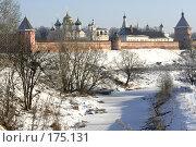 Купить «Суздаль. Вид с моста через реку Каменку», фото № 175131, снято 6 января 2008 г. (c) Бондаренко Сергей / Фотобанк Лори