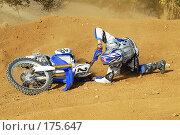 Купить «Мотокросс - Падая не сдаваться», фото № 175647, снято 7 октября 2006 г. (c) Федор Королевский / Фотобанк Лори