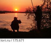 Купить «Рыбалка на утренней зорьке», фото № 175671, снято 5 мая 2003 г. (c) Федор Королевский / Фотобанк Лори