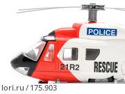 Купить «Игрушечный вертолет, крупный план», фото № 175903, снято 5 января 2008 г. (c) Угоренков Александр / Фотобанк Лори