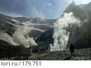 Купить «В кратере вулкана Мутновский», фото № 179751, снято 10 октября 2006 г. (c) Ирина Игумнова / Фотобанк Лори