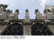 Купить «Готическая архитектура собора Парижской Богоматери», фото № 180283, снято 18 июня 2007 г. (c) Юрий Синицын / Фотобанк Лори
